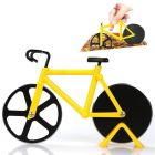 Dravmo Bicycle Shape Pizza Cutter   Stainless Steel Wheel Super Sharp and Easy to Clean Pizza Slicer   Cool Kitchen Gadget - Best Gift (Random Color)