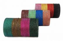 Priya Kangan Adorable Full Zari Work Metal Chudi, Bangles Set Match With All Attires   12 Different Colours For Partywear, Weddings & All Occasions (Pack of 144 Bangles)