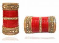 Priya Kangan Beautiful & Designer Crystle AAA Stones Works Bridal Chuda Bangles Set For Beautifull Bride & Girl