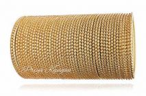 Priya Kangan Excellent Beautifull Zari Dotted Nion Coloured Metal Bangle Churi Match with Any Attire for Girls or Women (Gold) (Pack Of 48)