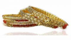 Antique Designer Traditional Beautifull Bangles Set with Full Moti Work Gold Plated Bangles Set Perfect For Women