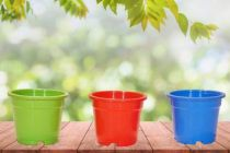 RFL Plastic Plant Container Set For Home & Gardening (Pack of 3)