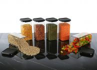 GNM Unbreakable Kitchen Plastic Container Set   Grocery Storage containers Combo Box Sets 1500 ml (Pack Of 6) (Black)