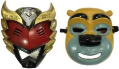 PTCMART Power Ranger Shape And Teddy Bear Face Mask For kids Party Mask(Multicolor, Pack of 2)