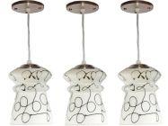 VAGalleryKing Decorative Hanging Pendant Ceiling Lamp Pack Of 3 | Black