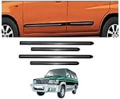 After Cars Qualis Car Black Side Beading with Chrome Line Set of 4