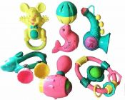 Mix Cute Animals Rattle Set Toys Non-Toxic, Can Float On Water (Animal Set With 12Pc Quantity)