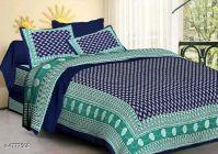 VINODTRADERS Jaipuri Stylish Cotton 100 X 90 Double Bedsheets   Pack of 1