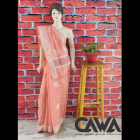 WACA Stylish & Trendy Saree With Chikan Embroidery which comes Inclusive of a Blouse Piece for Women's (Pack: Pack of 1)   (Color: Salmon Pink)