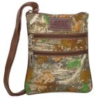ASPENLEATHER Green Pure Canvas Leather Cross Body Bag