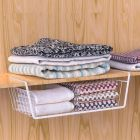 Metal Cabinet Closet, Desk Hanging Mesh, Basket Wire Bookcase, Shelf Rack Organizer,Hanger Rack Shelf