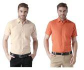 Solid Cotton FashionableFormal Short Sleeves Shirt For Men's (Multi-Color) (Buy 1 Get 1 Free)