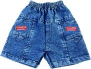 SHAURYA INNOVATION Party Wear Printed Denim Blend Short For Boy's (Blue) (Pack of 1)