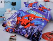 FABRIC EMPIRE Cotton Spiderman Printed Kids Version Comforter Set With 1 Double Bedsheet and 2 Pillow Covers