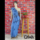 WACA Stylish & Trendy Saree With Chikan Embroidery which comes Inclusive of a Blouse Piece for Women's (Pack: Pack of 1)   (Color: Maya Blue)