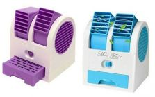 Dual Bladeless Mini Fan Air Conditioner Water Air Cooler Flexible Extention (Pack Of 2)