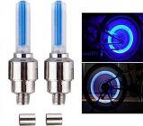U.S.Traders Car and Bike Tyre Blue LED Waterproof & Sensor Light (Pack Of 2)