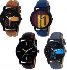 Mens Synthetic Analog Watches Suitable For Party, Weddings (Pack Of 4)