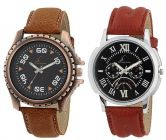 Synthetic Analog Watches For Men (Combo Pack)