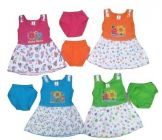 Printed Cotton Two-Piece Dress Kids Girls Frocks (Pack of 4)