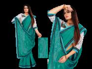Bagrecha Creation Sobhya, Vichitra Fabric Saree with Bangalore Silk Fabric Blouse (Saree: 5.5 MTR) (Blouse: 0.80 MTR)