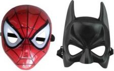 PTCMART Spiderman And Batman look Design Face Mask For Kids (Pack of 2)