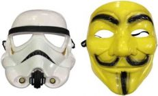 PTCMART Star Wars With V For Vendetta Comic Mask Combo Set Party Mask(Multicolor, Pack of 2)