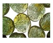 Nain Glossy Finished Pebbles Stone for Decoration & Home Decor (Green)