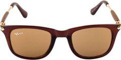 UV Protection Wayfarer Polycarbonate Sunglasses For Men's & Women's (Brown)