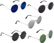 UV Protection, Mirrored Round Sunglasses For Men's & Women's (Multi-Color) (Pack of 5)