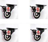 BHS IMPEX Heavy Duty Black CORE PU Plastic Brake Castor Wheel 50x25 (Pack of 4)