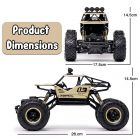 Remote Control Car For Kids 2.4 GHz 4x4 RC Toys Monster Truck | 4x4 High Speed Rechargeable Off-Road Monster Truck | Rock Crawler For Kids
