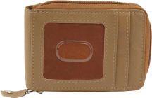 Men Brown Genuine Leather RFID Card Holder  (10 Card Slots)