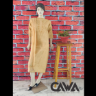 WACA Stylish & Modish Pure Cotton Suit Piece with Chikankari Embroidery with it comes a Lavishing Dupatta with Cirosia for Women's (Pack of 1)   (Color: Tan)