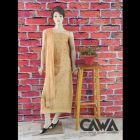 WACA Stylish & Modish 100% Cotton Suit Piece with Chikankari Embroidery with it comes a Lavishing Dupatta with Cirosia for Women's (Pack of 1)   (Color: Tan)