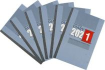 Toss 2021 A6 & 330 Pages Diary (Multicolor) (Pack of 6)