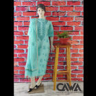 WACA Stylish & Modish Chanderi Suit Piece With Chikankari Embroidery with it comes a Lavishing Dupatta with a Zari Border for Women's (Pack: Pack of 1) | (Color: Teal Blue)
