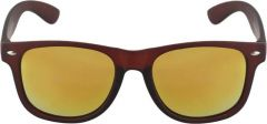 Stylish Mirrored, UV Protection Wayfarer Sunglasses For Unisex (Orange) (Pack Of 1)