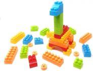TECHTOY Dream Castle Building & Construction Toys Blocks For Kids (Multi-Color) (100 Piece Plain)