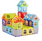 TECHTOY Dream Castle Building & Construction Toys Blocks For Kids (Multi-Color) (64 Piece House)