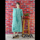 WACA Stylish & Modish Kota Suit Piece with Chikankari Embroidery with it comes a Lavishing Dupatta for Women's (Pack: Pack of 1) | (Color: Turkish Blue)
