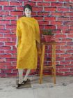 WACA Fashionable & Trendy Unstitched Kota Suit Piece With Chikankari Embroidery with it Comes a Lavishing Dupatta for Women's (Pack of 1) | (Color: Yellow)