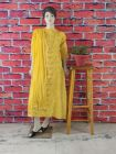 Cawa Trendy & Fashionable 100% Cotton Suit Piece With Chikankari Embroidery with Chiffon Dupatta with a Cirosia Border for Women's (Pack of 1) | (Color: Yellow)