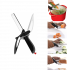 Krivish Multicolor Stainless Steel Fruit & Vegetables Chopper Cutting Scissor With Chopping Board Kitchen Tool - (1 Pc)