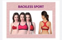 Women Full Coverage, Non-Padded Backless Sports Bra (Multicolor) (Combo Pack)