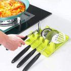 CYALERVA Utensil Rest For Multiple Utensils, Hangable Spoon holder For Kitchen (Multicolor)