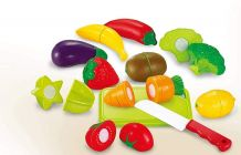Realistic Sliceable Fruits And Vegetables Cutting Play Toy Set For Kids, Boys & Girls (Pack Of 1 Set)