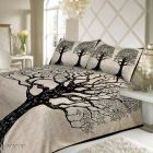 VINODTRADERS Voguish Fashionable Stylish Cotton 90 X 100 Double Bedsheets | Pack of 1