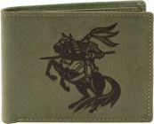 Men Green Genuine Leather RFID Wallet  (6 Card Slots)