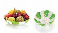 Lastic Rice Fruits Vegetable Noodles Pasta Washing Bowl And Strainer (Green Colour)